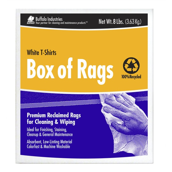 8# Box of White Rags