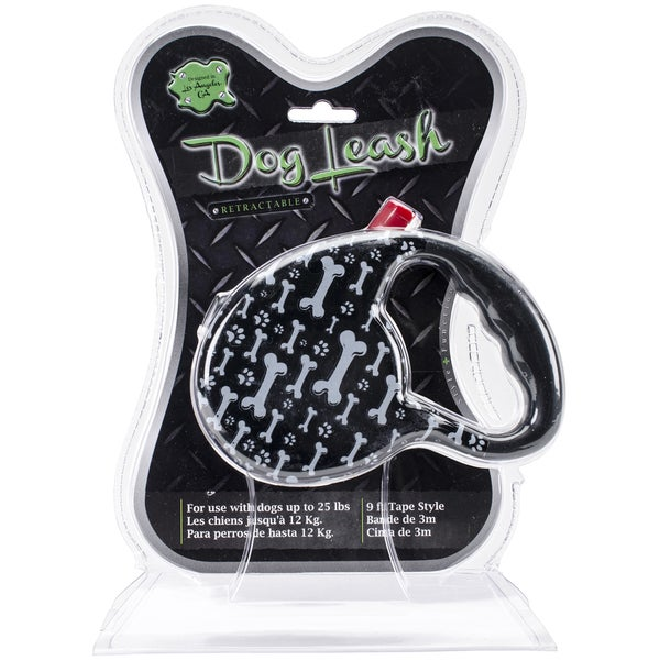 Nandog Retractable LeashCosmic Bones/Black
