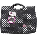 Creative Options Knitting Tote 14inX4.25inX12.25inBlack & White