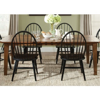 Hearthstone Traditional Black and Rustic Oak 5-piece Dinette Set