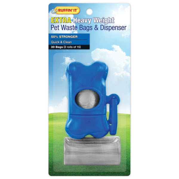 Waste Bag Dispenser W/2 15ct Rolls