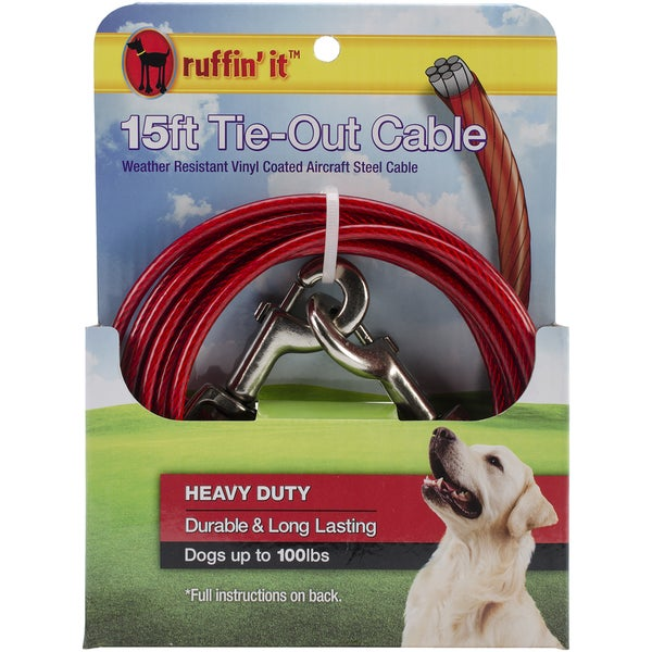 Heavy Duty Cable Tie Out 15ft