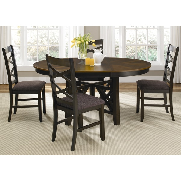 Bistro Transitional Oval 5 Piece Dinette Set