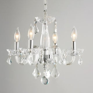 4-light with Clear Crystal Mini Chandelier Chrome Finish