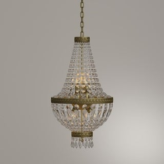 Glamorous 5-light Antique Bronze Finish with Full Lead Crystal Chandelier