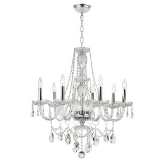 Provence Venetian Style 8-light Full Lead Crystal Chrome Finish 28-inch Chandelier