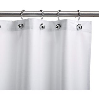 Heavy-Duty White Commercial Shower Curtain for Shower Stall - Antimicrobial, Staph Resistant, Mold and Odor Resistant