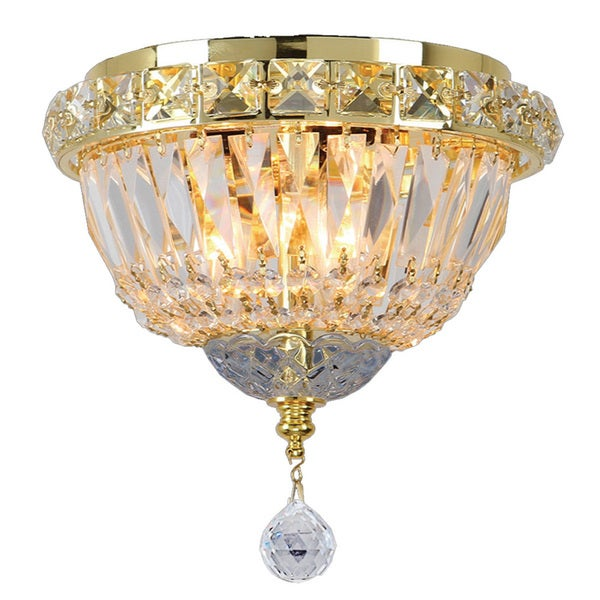 Flush Mount French Empire Crystal Chandelier Crystal