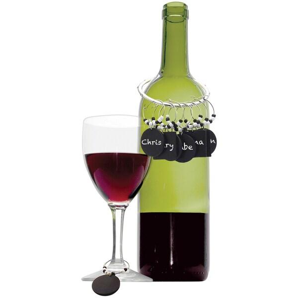 Worthy Chalkboard Wine Charm Set