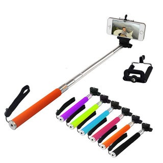 Insten Bluetooth Wireless Self Camera Monopod Selfie Stick with Function Keys For iOS/ Andriod Cellphones/ iPad
