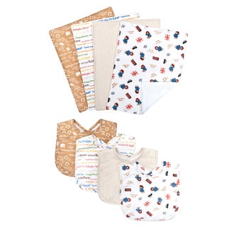 Trend Lab Paddington Bear Bouquet Bib and Burp Cloth Set