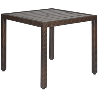 angelo:HOME Napa Estate Dark Brown Square Indoor/Outdoor Dining Table
