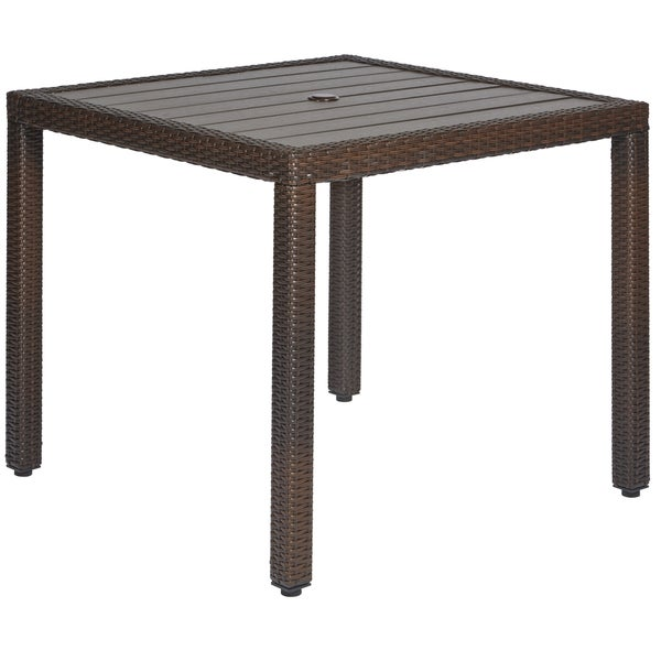 Angelo HOME Napa Estate Dark Brown Square Indoor Outdoor Dining Table