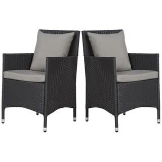 angelo:HOME Napa Estate Grey 2 piece Indoor/Outdoor Dining Chair Set