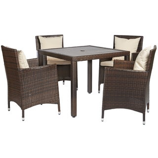 angelo:HOME Napa Estate Dark Brown 5 piece Square Indoor/Outdoor Dining Set