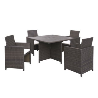 Portfolio Aldrich Brown Indoor/Outdoor 5-piece Square Dining Set