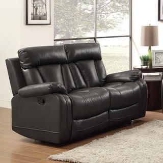 Ralston Bonded Leather Reclining Loveseat