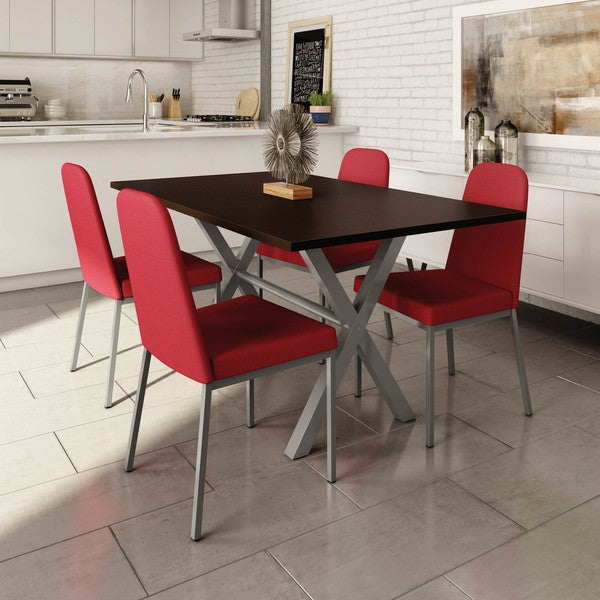 Amisco Spoon Metal Chairs and Alex Table, DIning Set