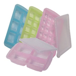 JM Green R.R.e. Easy-Out Freezer Trays with Lids, Assorted Size, 4-Pack