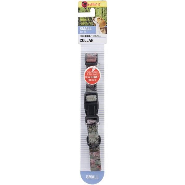 Woodlands Small Adjustable Collar W/Quadlock Buckle 1216inCamo Print