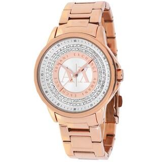 Armani Exchange Women's AX4322 Classic Round Rose Gold-tone Bracelet Watch