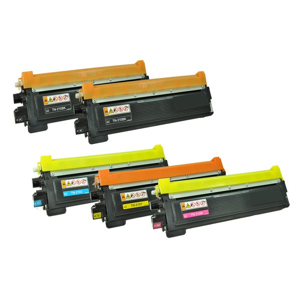 Brother Compatible KKCYM TN-210 Toner Cartridge (5-Pack)