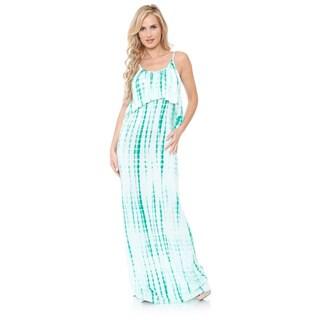 White Mark Women's 'Kalea' Tie-dye Overlay Maxi Dress