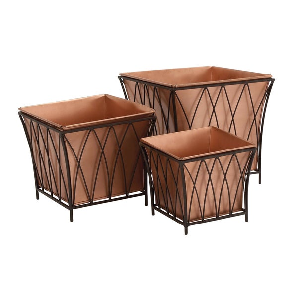 Metal Sqaure Planter (Set of 3)