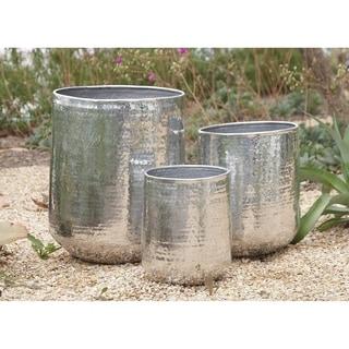 13-inch Aluminum Planter (Set of 3)