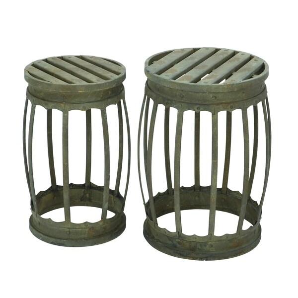 18 Inch Metal Stool Set Of 2 17255407 Overstock Com