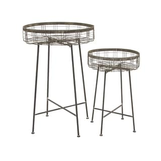 33-inch Metal Planter Stand (Set of 2)