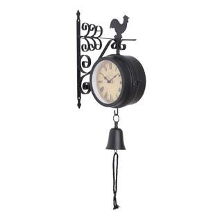 Metal 22-inch Outdoor Double Clock