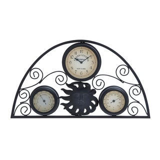 Metal 13-inch Clock Thermometer