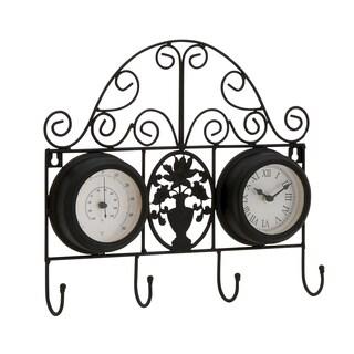 Metal 13-inch Hook Clock