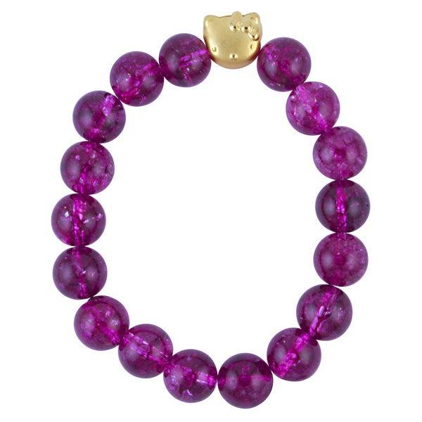 Pink Sterling Silver Tourmaline Quartz Kitty Stretch Bracelet