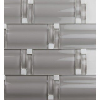 Martini Mosaic Piazza Stainless Steel 12 X 12 Inch Tile