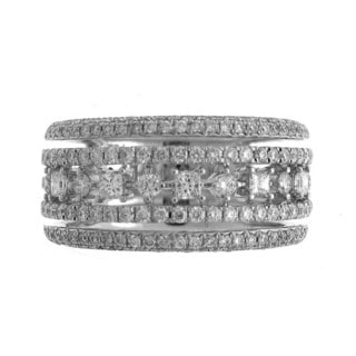 18k White Gold 1 1/10ct TDW Diamond Fashion Ring (G-H, SI1-SI2)