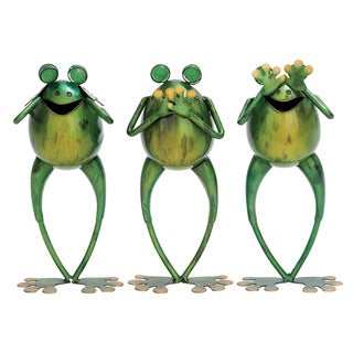 Metal 11-inch Frog (Set of 3)