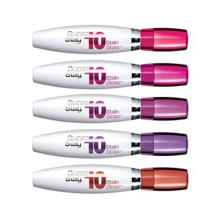 Maybelline New York Super Stay 10-hour Stain Gloss 5 Piece Collection