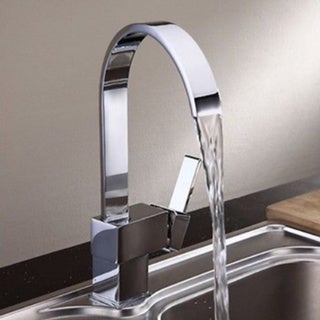 Starstar Brushed Nickel Kitchen Tap Faucet Square Handle