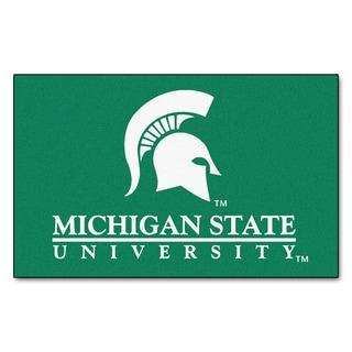 Fanmats Machine-Made Michigan State University Green Nylon Ulti-Mat (5' x 8')