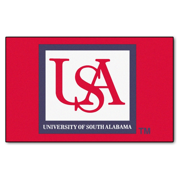 Fanmats Machine-Made University of South Alabama Red Nylon Ulti-Mat (5' x 8')
