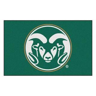 Fanmats Machine-Made Colorado State University Green Nylon Ulti-Mat (5' x 8')