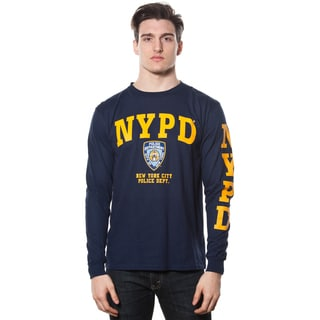 Men's NYPD Yellow Long-sleeve Printed Tee