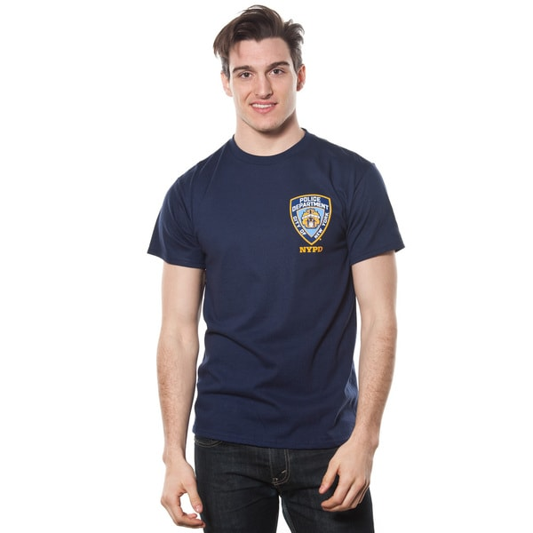 Men's NYPD Front Patch Police Theme T-shirt
