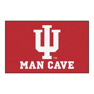Fanmats Machine-Made Indiana University Red Nylon Man Cave Ulti-Mat (5' x 8')