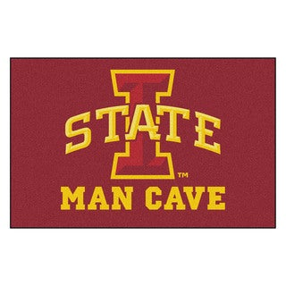 Fanmats Machine-Made Iowa State University Burgundy Nylon Man Cave Ulti-Mat (5' x 8')