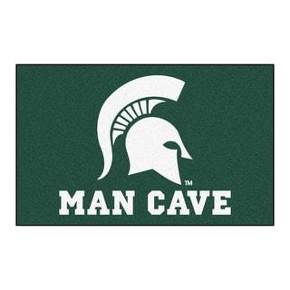 Fanmats Machine-Made Michigan State University Green Nylon Man Cave Ulti-Mat (5' x 8')