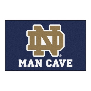 Fanmats Machine-Made Notre Dame Blue Nylon Man Cave Ulti-Mat (5' x 8')