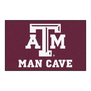 Fanmats Machine-Made Texas A&M University Burgundy Nylon Man Cave Ulti-Mat (5' x 8')